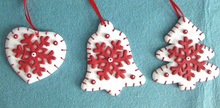 2015 new Christmas hanging room tree decoration Clay daugh heart bell