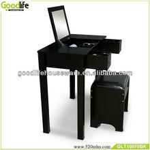 Black color wooden furniture bedroom dresser