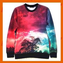 Women Pullovers 2015 New Fashion Galaxy Bright Colored Sweatshirts 3D Hoodies