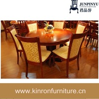 The new Greek column european-style solid wood dining table