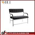 Armação de metal móveis de salão sofá de espera, público cadeira sofa, escritório de design lounge sofa