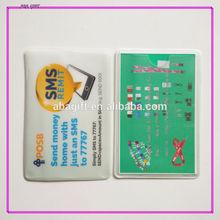 Soft plastic identification card holder with logo printing