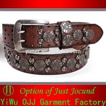 2015 New Fashion Fancy Genuine Leather Belt Men