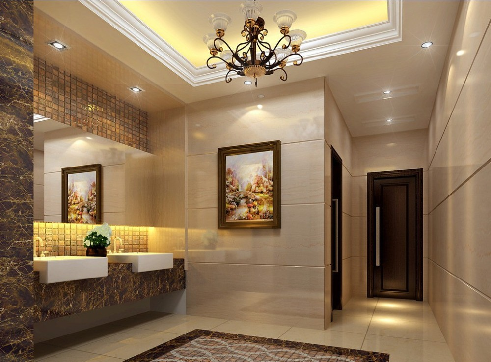 Interior Decorative Waterproof Commercial Bathroom Wall ...