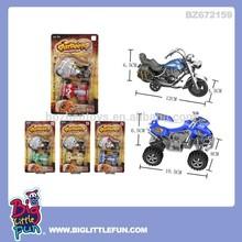 Pull back toy motorbike