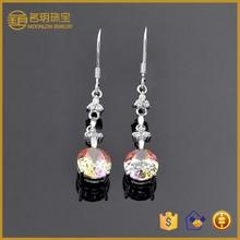latest model fashion earrings,925 sterling silver hoop earring,big crystal earring!