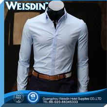 Guangzhou wholesale herringbone black shirt white dots