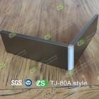 beautiful gun color anodized aluminium baseboard cover