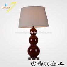 GZ60021-1T Antique reading lamp redwood color ceramic porcelain decorative table light