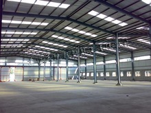rmb payment hot galvanized or painting prefabricated steel structure workshop