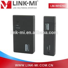 LINK-MI 50m supports VGA, SVGA, XGA and 1080p video format Wireless HDMI transmitter
