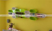 Wall decor display wood cube shelf fashion novel pet plastic folding box
