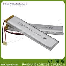 3.7V lipo battery 1700mah d cell lithium battery custom lipo battery packs