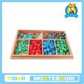 المواد مونتيسوري، مونتيسوري اللعب، الدمية الخشبية التعليمية-- الخشب الألعاب-- قسائم لعبة.