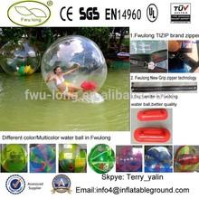 Grip zipper new technology human inflatable water ball
