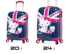 Fashion Little Girl Kids Cartoon Print Luggage cute kids luggage