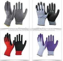 SRSAFETY 13G Knitted nylon Liner Dipping Nitrile Gloves
