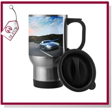 14oz Sliver Sublimation Stainless Steel Logo Stamped Double Wall Mug for Travel