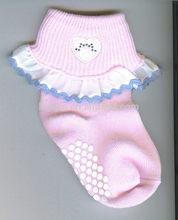 New crazy Selling cotton anti slip new born baby socks