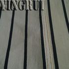 10.3oz cotton spandex denim fabric wholesale, black white stripe