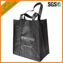 Black non Woven handbag with creative photo