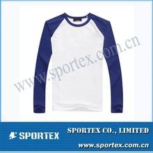 2015 New OEM High Perfermance Tee Tops Long Sleeve Raglan Blank Men's Plain T-shirt MZ0462