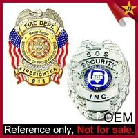 China Maker Wholesale US Custom Metal Diplomatic Security Service Badge