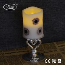 Fashionable newest design LED flameless wax candle light remotye control