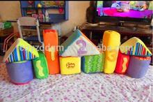 baby plush house shape building block toys