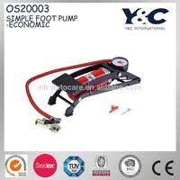 simple car and bicycle high pressure foot pump