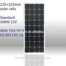 12V 100W mono low price mini solar panel
