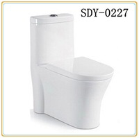 Hot sale ceramic toilet wc bathroom one piece siphonic toilet