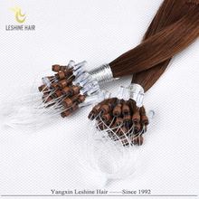 Wholesale 100% Cheap Remy double beads ring-x hair extension