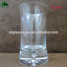 Elegant OEM Lead Free Crystal Glass Vase with Base Bubble