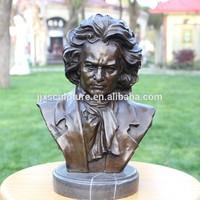 Folk Art Bronze Bust Of Beethoven