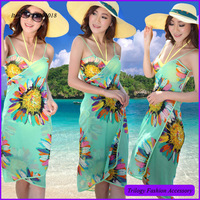 Beautiful new arrival sexy women bali sarong for summer , floral pareo