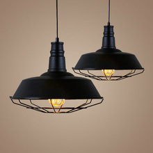 Industrial Metal Cage Rustic Pendant Light