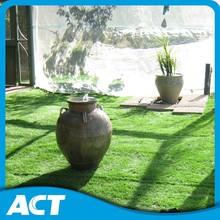 Natural darker green artificial turf grass