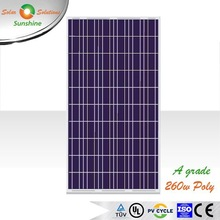 Sunshine 260w Poly A Grade Jinko Quality Solar Panel +3% Power Tolerence for On-grid/Grid-tied Roof-top/Solar Plant/Station