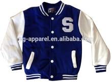 Boy 100%Polyester Varsity Jacket Apparel Stock