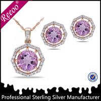 polygon purple diamond jewelry wholesale pakistan