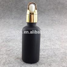 Black Glass Dropper Bottles Wholesale Round 100ml