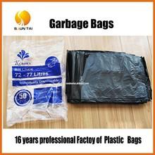 LDPE big black garbage bag with drawstring