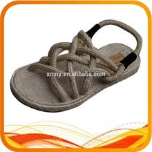 hemp rope upper flat lady sandal
