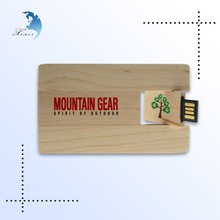 Accept small order classic design brand printed maple card USB Flash drive