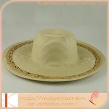 100& Paper white wide brim straw hats