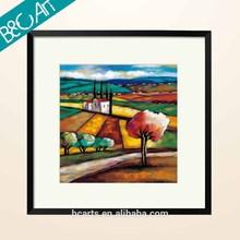 Impressionist rural area landscape oil painting