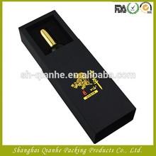 black essential oil box with foam tray