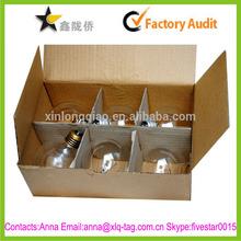 2015 Free design strong custom light bulb storage box,light bulb box packaging design,paper light bulb box