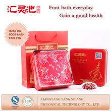 Herbs essential oil rose foot massage bath tablets gift set
